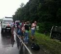 В Тульской области на М2 «Крым» перевернулся пассажирский автобус