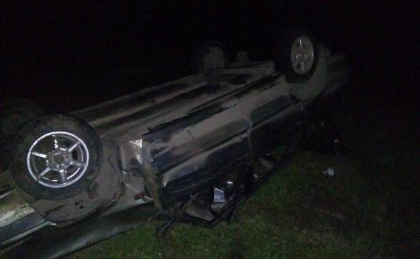 В Тульской области перевернулся автомобиль ВАЗ-21150