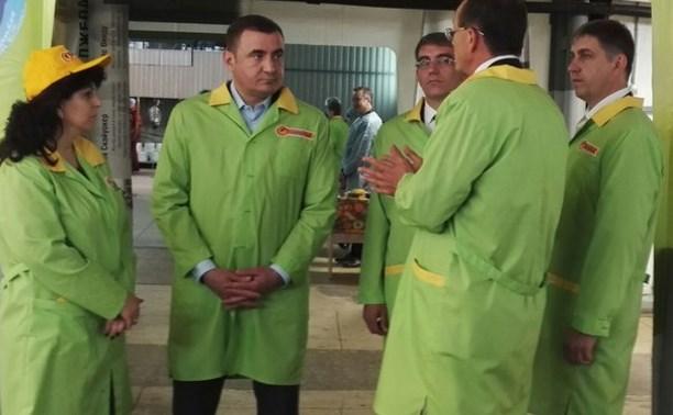 Алексей Дюмин встретился с сотрудниками завода «Одоевские консервы»