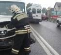 В Зареченском районе Тулы микроавтобус столкнулся с «Ладой Грантой»