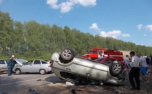 В крупной аварии в Киреевском районе пострадали люди