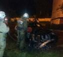 Ночью в Новомосковске сгорел БМВ