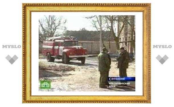 В Краснодарском крае произошел пожар в общежитии