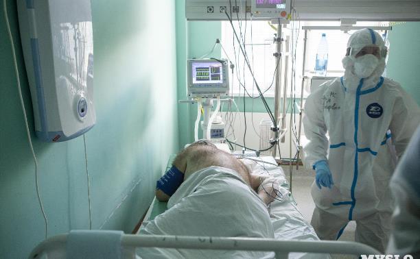 В Тульской области от коронавируса за неделю умерли 95 человек