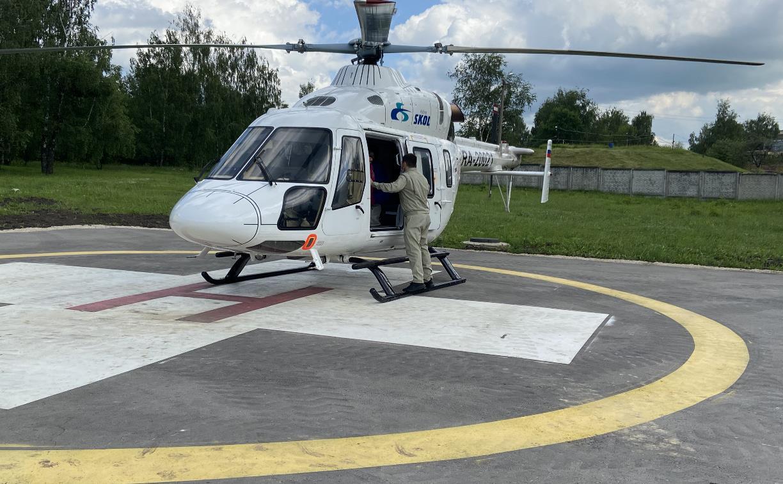 Заболевшего жителя Ефремова доставили в Новомосковск вертолетом