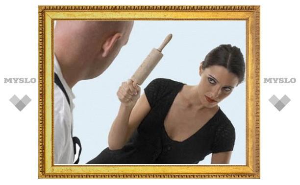Под Тулой жена избила своего мужа