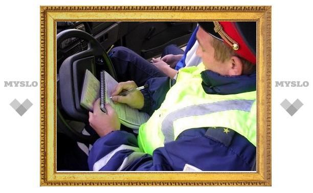 За месяц тульским водителям выписали штрафов на 6 миллионов рублей