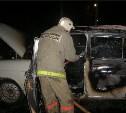 Ночью в Заокском районе сгорела «Волга»
