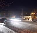Пьяный водитель легковушки въехал в снегоуборочную машину