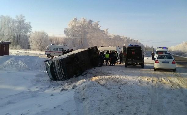 Под Тамбовом перевернулся пассажирский автобус, следовавший в Тулу