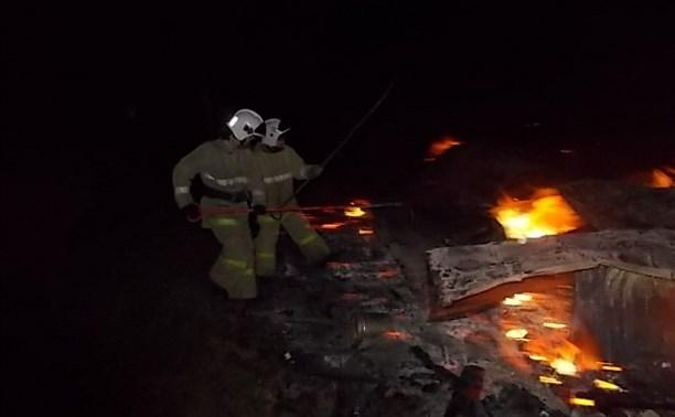 В деревне Клищино сгорела дача