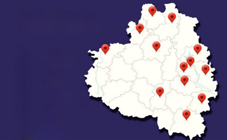 Подтвержденные случаи коронавируса в Тульской области: карта