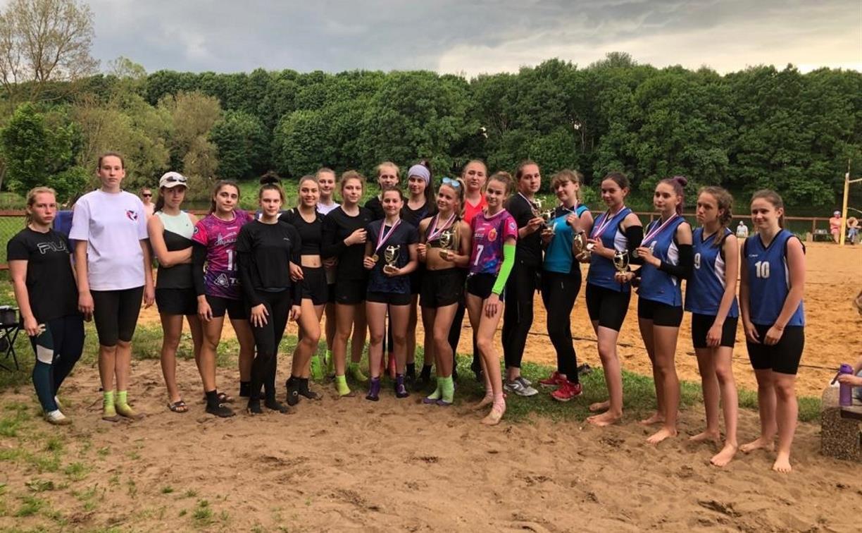 В Центральном парке Тулы прошло первенство области по пляжному волейболу среди девушек