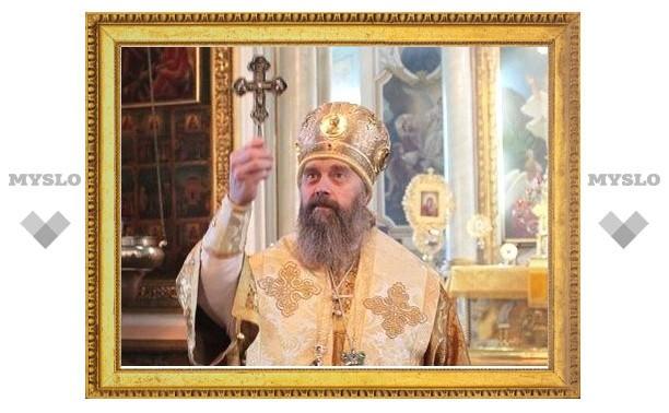 В Туле митрополит Алексий освятил новую колокольню