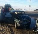 В Новомосковске столкнулись три автомобиля