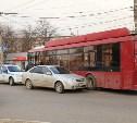 На Зеленстрое столкнулись «Шевроле» и троллейбус