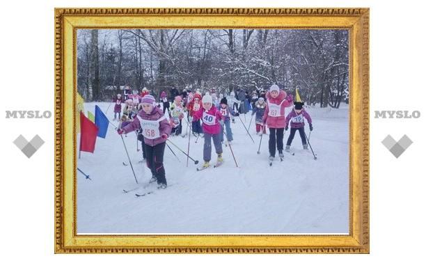 Тульские школьники соревновались на лыжне