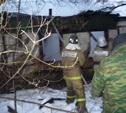 В Чернском районе выгорел дом