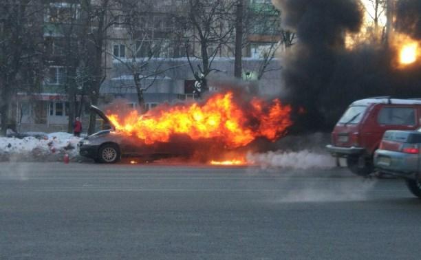 В Туле на Зеленстрое сгорел автомобиль