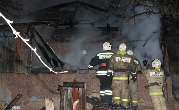 В Глушанках на пожаре погиб мужчина