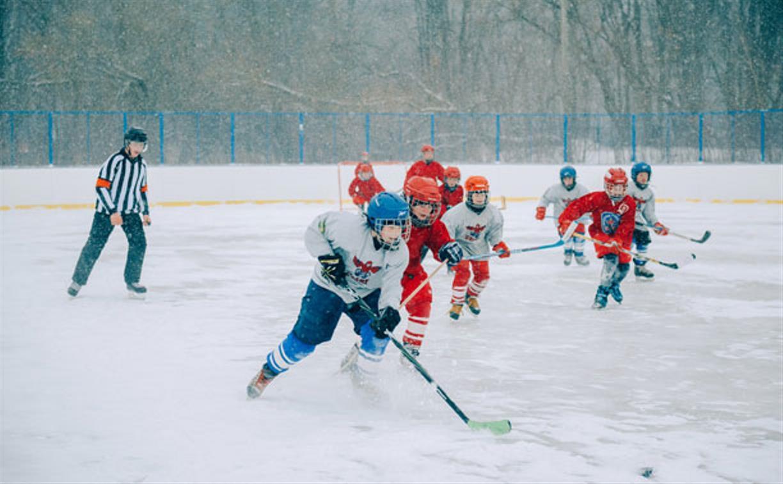 В Узловой открыли новую хоккейную площадку