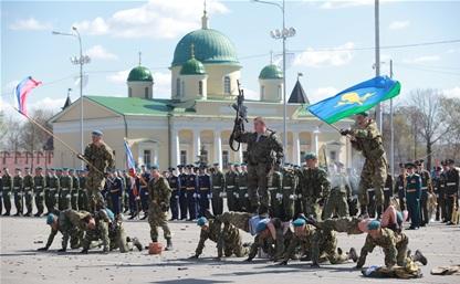 Тульские десантники опраздновали юбилей дивизии