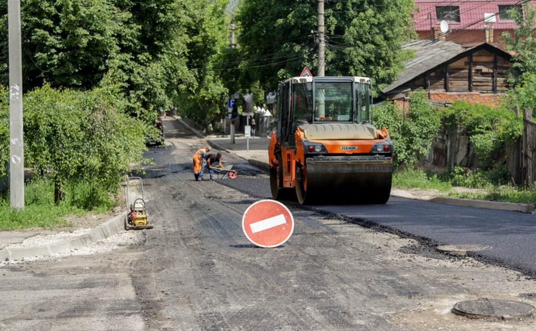 В Туле продолжается ремонт дорог и тротуаров