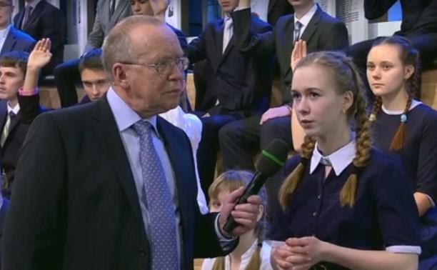 Школьница из Ясногорска получила орден на передаче «Умницы и умники»