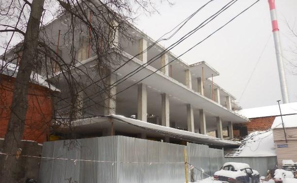 В центре Тулы выявлено незаконное строительство и самовольный захват земли
