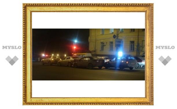 В Туле столкнулось сразу четыре авто