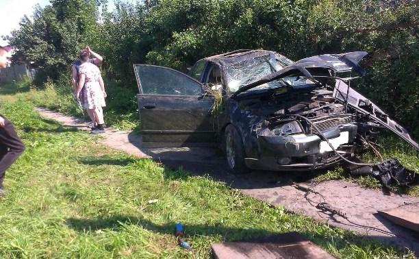 Пьяный водитель врезался в столб на автодороге «Тула-Новомосковск»