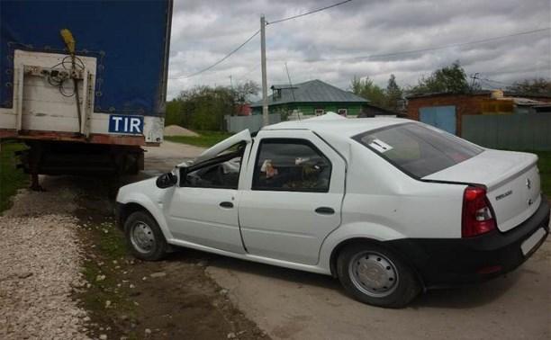 В Ясногорске иномарка въехала в прицеп