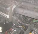 Ночью в Донском семь спасателей тушили горящий автомобиль
