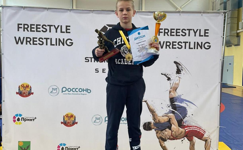 Юный туляк Степан Гордеев в очередной раз стал победителем турнира по вольной борьбе