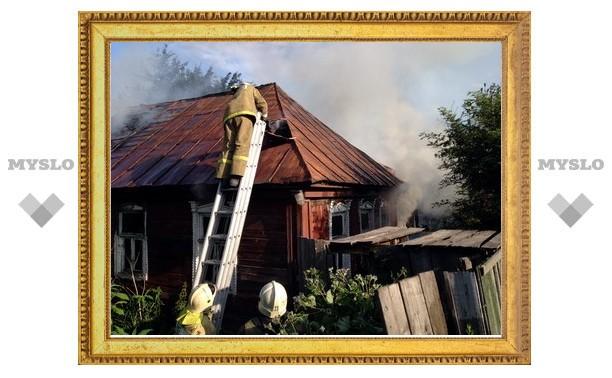 В Малых Гончарах в Заречье сгорел частный дом