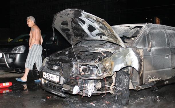 В Пролетарском районе Тулы сожгли иномарку