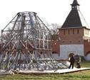 В Туле началась сборка часового пояса колокольни Успенского собора