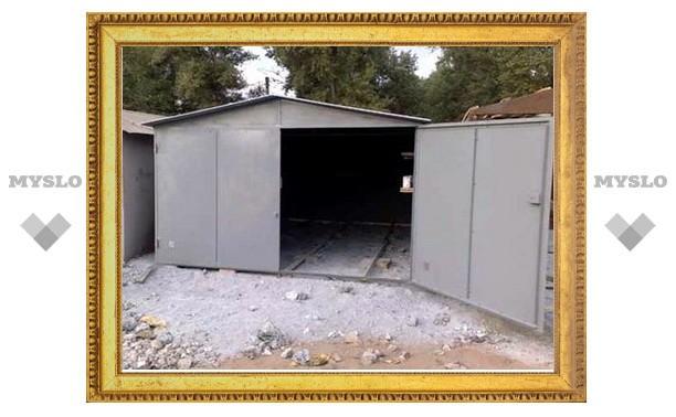 Под Тулой прямо из-под носа владельцев украли гараж