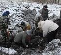 Под Новомосковском обнаружено масштабное захоронение солдат в годы ВОВ
