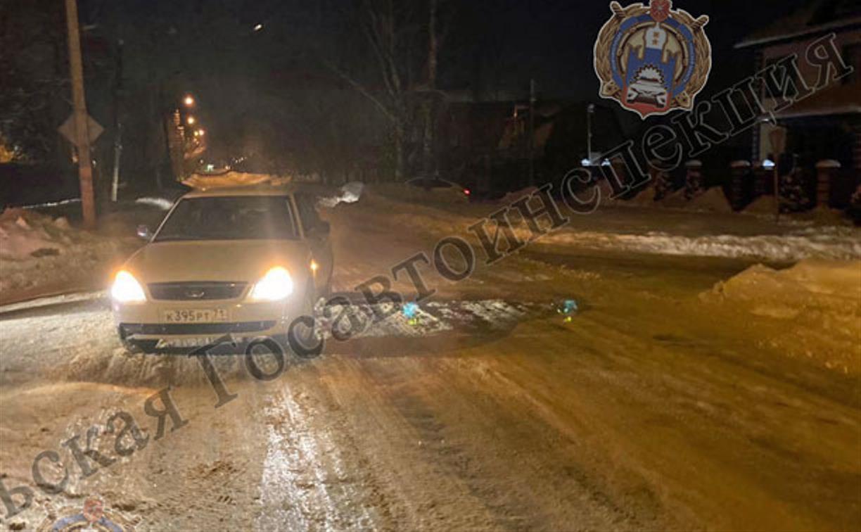 В Щекино водитель «Приоры» сбил подростка