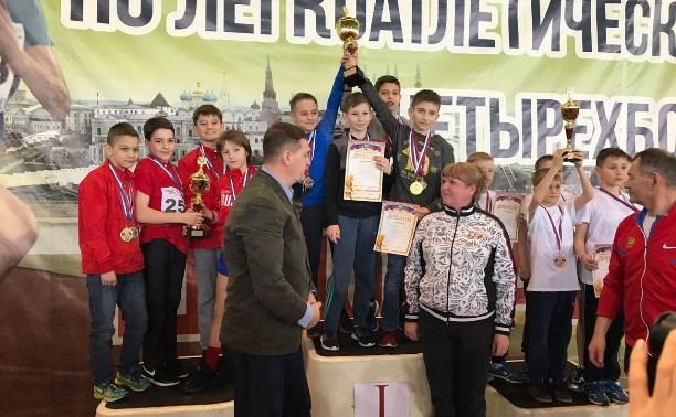 Тульские легкоатлеты привезли десять медалей с «Шиповки юных»