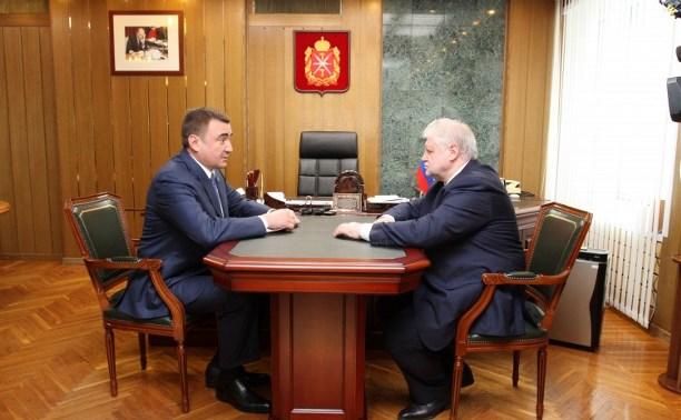 Сергей Миронов обсудил с Алексеем Дюминым вопросы развития Тульской области