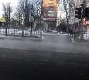 Красноармейский проспект в Туле заливает водой