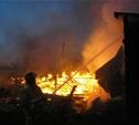 В Заокском районе сгорели три дачи