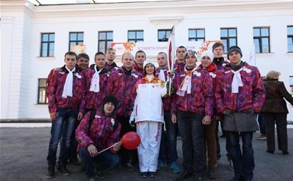Олимпийский огонь в Ясной Поляне: первый этап эстафеты завершен!