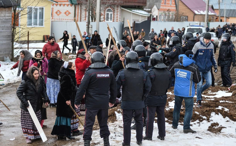 Жители цыганской общины устроили бунт в Плеханово