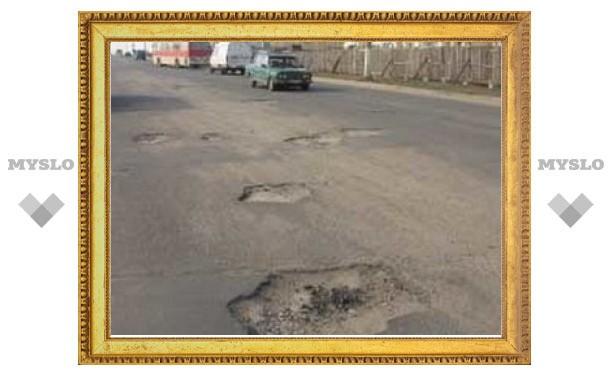 К очередному приезду Грызлова в Туле не успели залатать все дороги