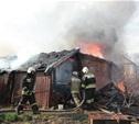 На Калужском шоссе сгорел жилой дом