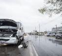 На ул. Рязанской «Хёндэ» столкнулся с микроавтобусом