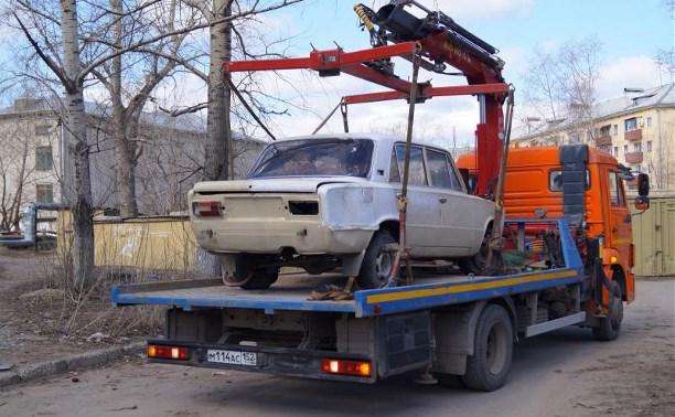 С улиц Тулы эвакуировали 55 брошенных автомобилей
